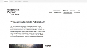 Publications numérisées du Wildenstein Institute